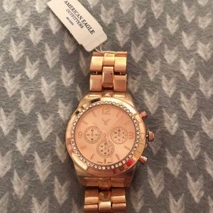 American Eagle Women's Gold watch with accents